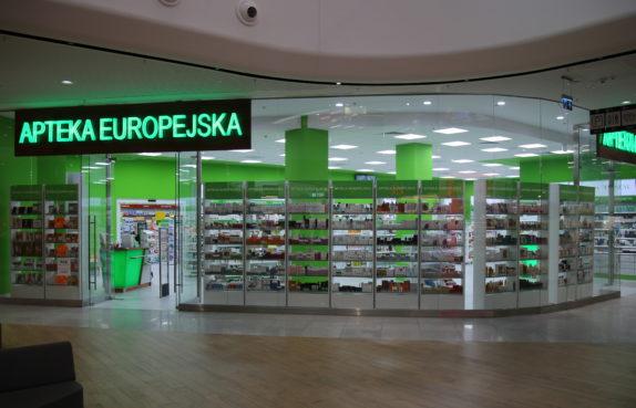 Projekt apteki w Katowicach w GALERIA LIBERO - REALIZACJA