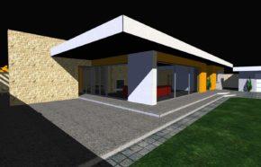 Projekt budynku mieszkalnego jednorodzinnego w Porębie - REALIZACJA