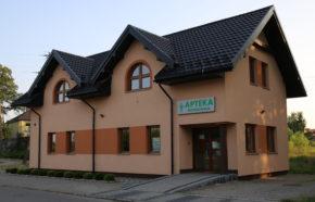Projekt budynku usługowego z apteką w Poczesnej przy ul. Bociania Górka - REALIZACJA
