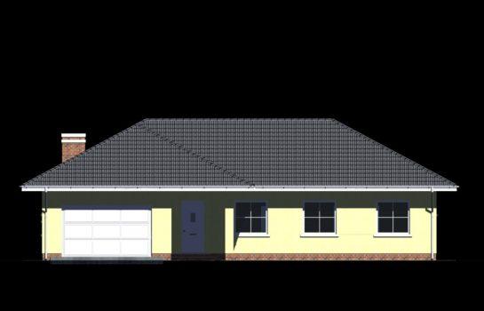Projekt gotowy budynku mieszkalnego jednorodzinnego parterowego dom 112 elewacja 1