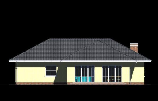 Projekt gotowy budynku mieszkalnego jednorodzinnego parterowego dom 112 elewacja 2