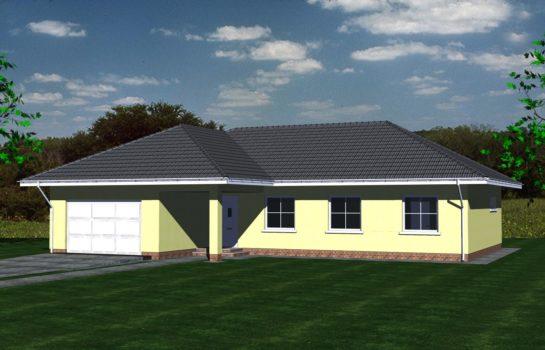 Projekt gotowy budynku mieszkalnego jednorodzinnego parterowego dom 112 widok 3