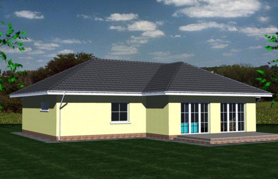 Projekt gotowy budynku mieszkalnego jednorodzinnego parterowego dom 112 widok 4