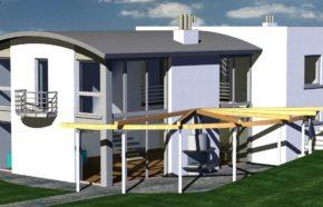 Projekt gotowy budynku mieszkalnego jednorodzinnego piętrowy DOM 246