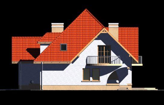 Projekt gotowy budynku mieszkalnego jednorodzinnego piętrowy dom 201 elewacja 1