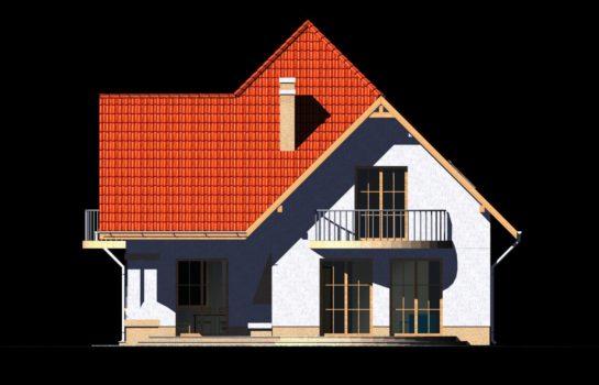 Projekt gotowy budynku mieszkalnego jednorodzinnego piętrowy dom 201 elewacja 2