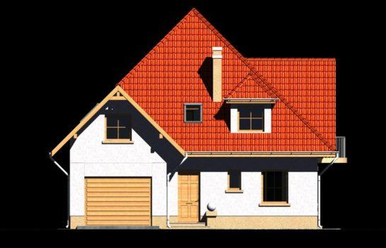 Projekt gotowy budynku mieszkalnego jednorodzinnego piętrowy dom 201 elewacja 3