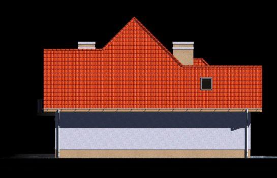Projekt gotowy budynku mieszkalnego jednorodzinnego piętrowy dom 201 elewacja 4