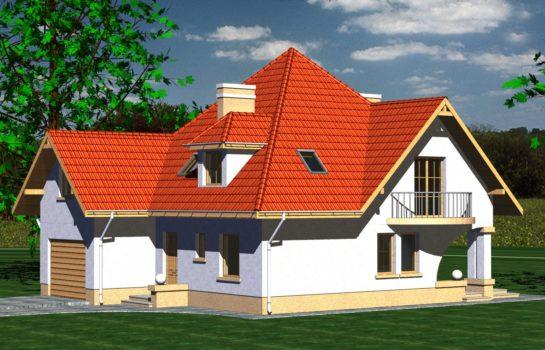 Projekt gotowy budynku mieszkalnego jednorodzinnego piętrowy dom 201 widok 2