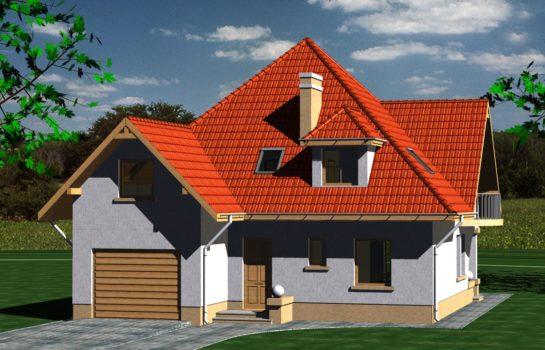 Projekt gotowy budynku mieszkalnego jednorodzinnego piętrowy dom 201 widok 3
