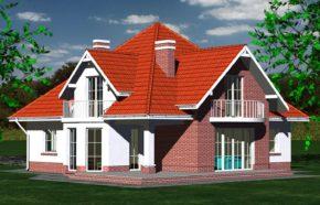 Projekt gotowy budynku mieszkalnego jednorodzinnego piętrowy dom 215