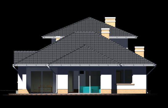 Projekt gotowy budynku mieszkalnego jednorodzinnego piętrowy dom 227 elewacja 2
