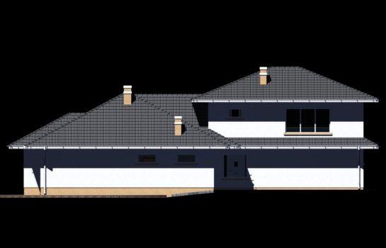Projekt gotowy budynku mieszkalnego jednorodzinnego piętrowy dom 227 elewacja 3