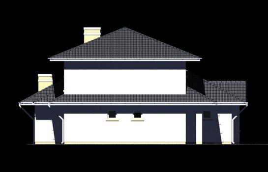 Projekt gotowy budynku mieszkalnego jednorodzinnego piętrowy dom 227 elewacja 4