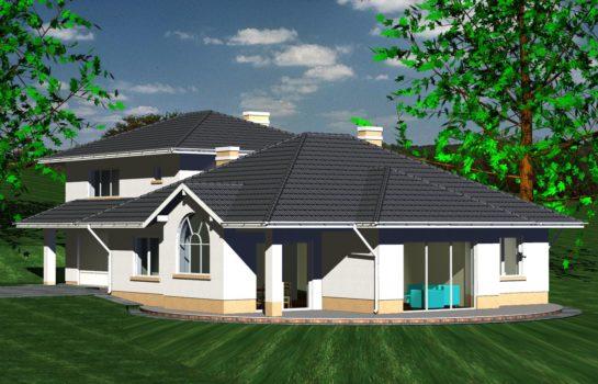 Projekt gotowy budynku mieszkalnego jednorodzinnego piętrowy dom 227 widok 1