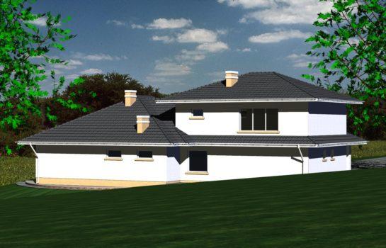Projekt gotowy budynku mieszkalnego jednorodzinnego piętrowy dom 227 widok 3