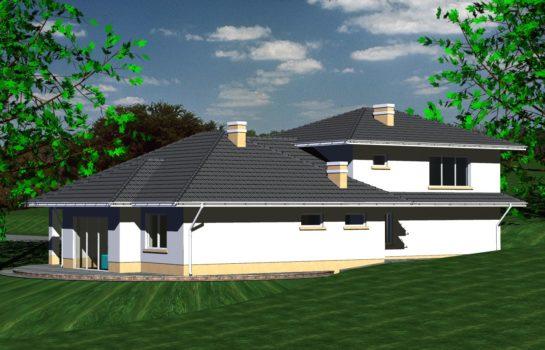 Projekt gotowy budynku mieszkalnego jednorodzinnego piętrowy dom 227 widok 4
