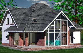 Projekt gotowy budynku mieszkalnego jednorodzinnego piętrowy dom 232