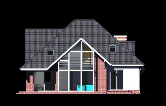 Projekt gotowy budynku mieszkalnego jednorodzinnego piętrowy dom 232 elewacja 1