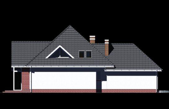 Projekt gotowy budynku mieszkalnego jednorodzinnego piętrowy dom 232 elewacja 4