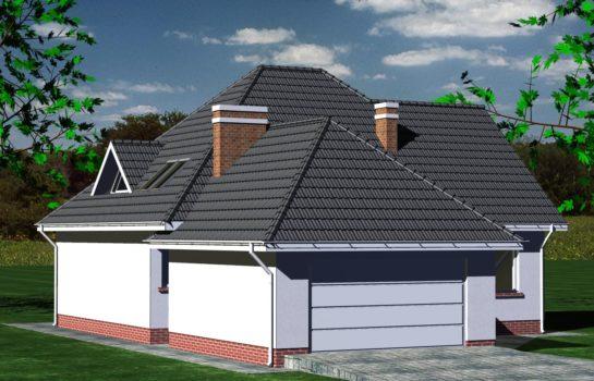 Projekt gotowy budynku mieszkalnego jednorodzinnego piętrowy dom 232 widok 3