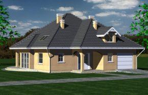 Projekt gotowy budynku mieszkalnego jednorodzinnego piętrowy dom 235