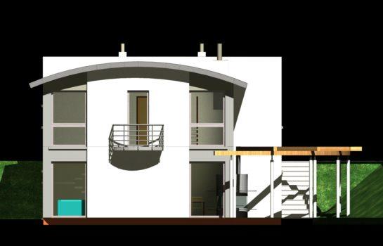 Projekt gotowy budynku mieszkalnego jednorodzinnego piętrowy dom 246 elewacja 1
