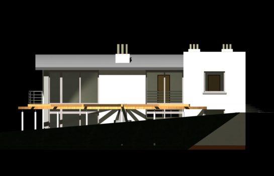 Projekt gotowy budynku mieszkalnego jednorodzinnego piętrowy dom 246 elewacja 2