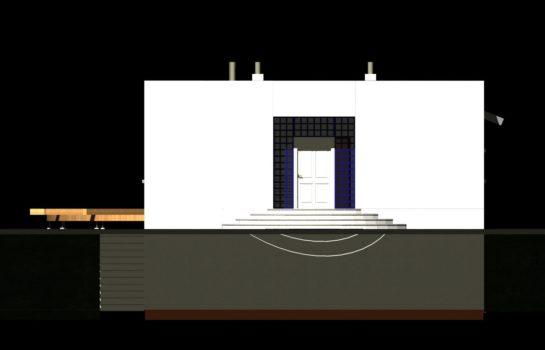 Projekt gotowy budynku mieszkalnego jednorodzinnego piętrowy dom 246 elewacja 3