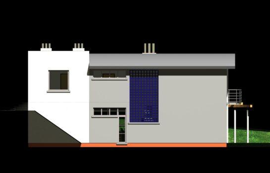 Projekt gotowy budynku mieszkalnego jednorodzinnego piętrowy dom 246 elewacja 4