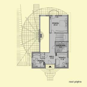 Projekt gotowy budynku mieszkalnego jednorodzinnego piętrowy dom 246 rzut poddasza