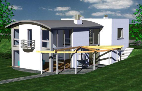 Projekt gotowy budynku mieszkalnego jednorodzinnego piętrowy dom 246 widok 1