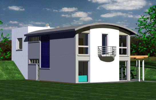 Projekt gotowy budynku mieszkalnego jednorodzinnego piętrowy dom 246 widok 2