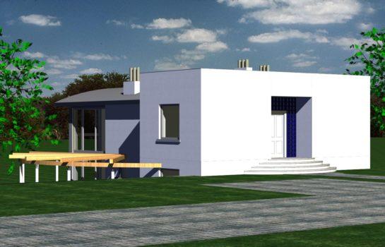 Projekt gotowy budynku mieszkalnego jednorodzinnego piętrowy dom 246 widok 3