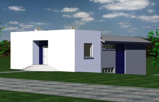 Projekt gotowy budynku mieszkalnego jednorodzinnego piętrowy dom 246 widok 4