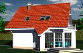 Projekt gotowy budynku mieszkalnego jednorodzinnego piętrowy dom 257