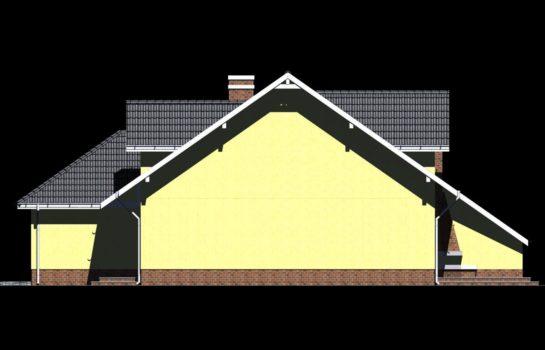 Projekt gotowy budynku mieszkalnego w zabudowie bliźniaczej piętrowy dom 605 elewacja 3