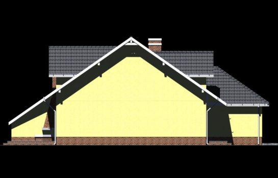 Projekt gotowy budynku mieszkalnego w zabudowie bliźniaczej piętrowy dom 605 elewacja 4