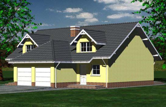Projekt gotowy budynku mieszkalnego w zabudowie bliźniaczej piętrowy dom 605 widok 4