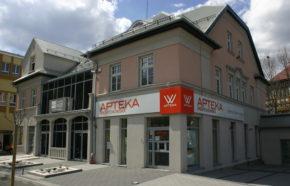 Projekt przebudowy budynku handlowo - usługowego z apteką w Andrychowie przy ul. Krakowskiej - REALIZACJA
