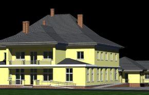 Projekt przebudowy budynku pogotowia na przychodnie lekarskie w Myszkowie przy ul. Skłodowskiej - REALIZACJA
