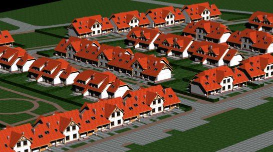 Projekt zespołu budynków mieszkalnych jednorodzinnych w zabudowie szeregowej