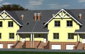 Projekt zespołu budynków mieszkalnych jednorodzinnych w zabudowie szeregowej w katowicach - REALIZACJA