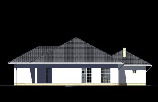 Projekt gotowy budynku mieszkalnego jednorodzinnego parterowego dom 113 elewacja 3
