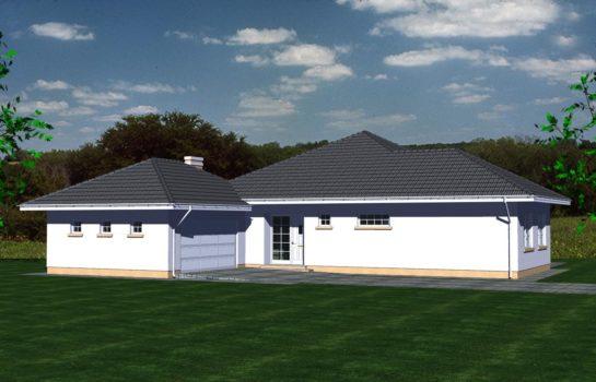 Projekt gotowy budynku mieszkalnego jednorodzinnego parterowego dom 113 widok 1