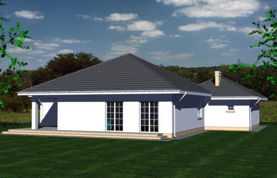 Projekt gotowy budynku mieszkalnego jednorodzinnego parterowego dom 113 widok 3