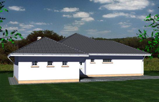 Projekt gotowy budynku mieszkalnego jednorodzinnego parterowego dom 113 widok 4