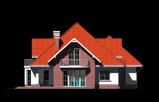 Projekt gotowy budynku mieszkalnego jednorodzinnego piętrowy dom 215 elewacja 1