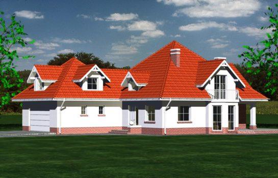 Projekt gotowy budynku mieszkalnego jednorodzinnego piętrowy dom 215 widok 2