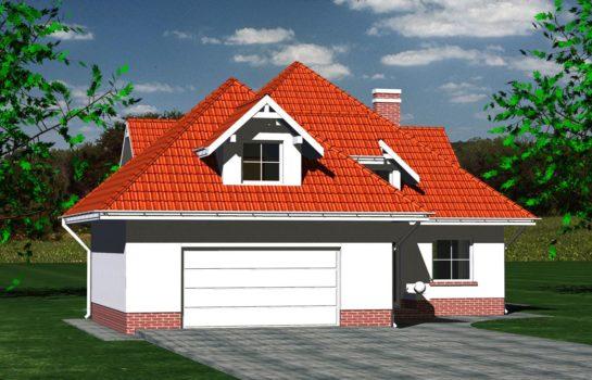 Projekt gotowy budynku mieszkalnego jednorodzinnego piętrowy dom 215 widok 3